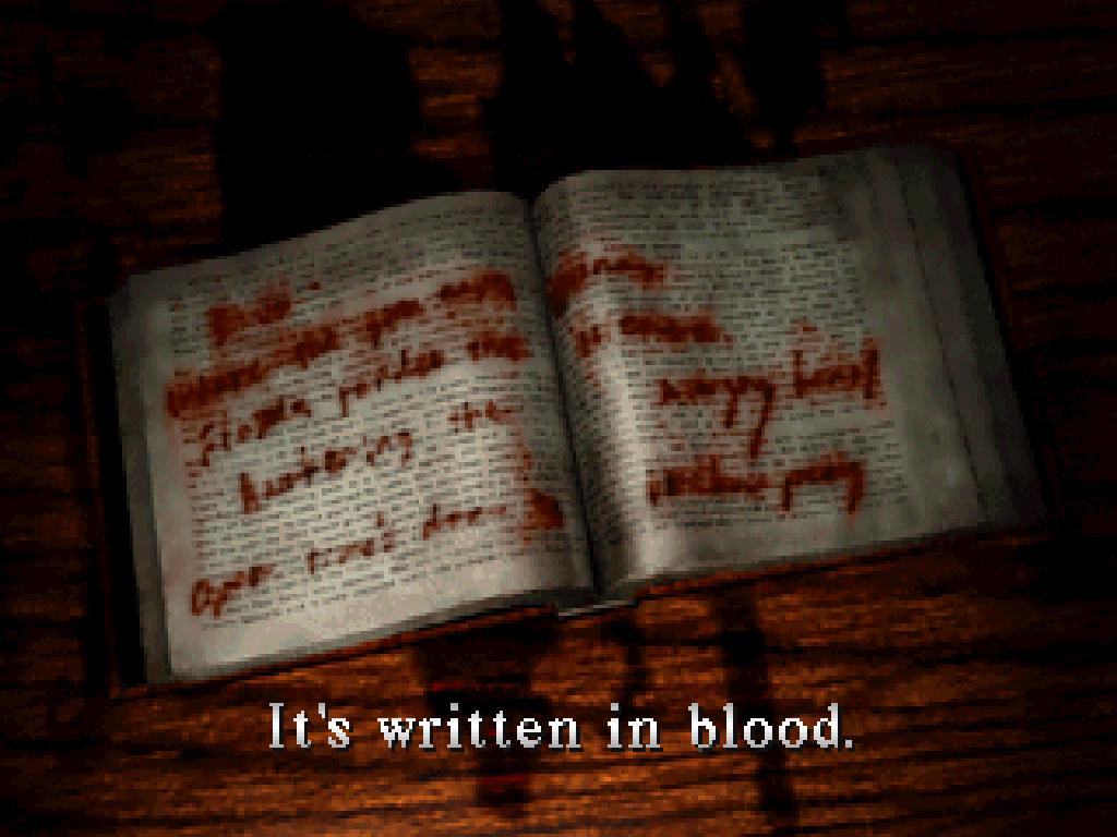 write bloody