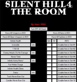 Трейнер #3 для Silent Hill 4: The Room